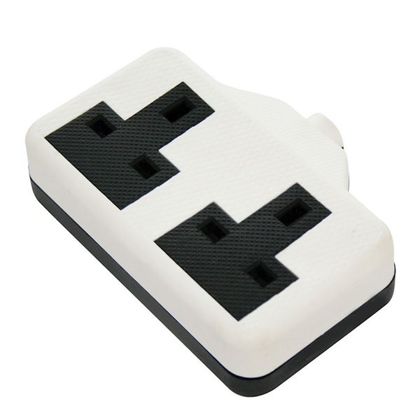 Jegs Resilient Trailing Socket - White - 2 Gang 13 Amp