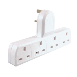 Extension Adaptor - Plug In - 4 Gang - 13 Amp