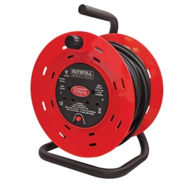 Faithfull Cable Reel 25Mt - 2 Gang - 13 Amp