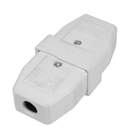 Jegs 3 Pin Connector - White - 10 Amp