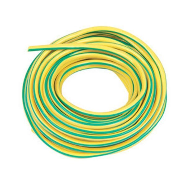 Jegs Earth Sleeving - Green/Yellow - 5mm x 1Mt