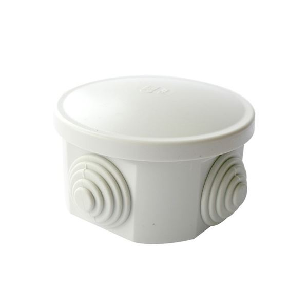 Jegs Weatherproof Junction Box - Circular - 65mm x 35mm
