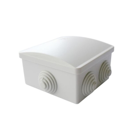 Jegs Weatherproof Junction Box - Square - 80mm x 80mm x 40mm