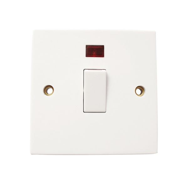Jegs Double Pole Switch - 20 Amp with Neon