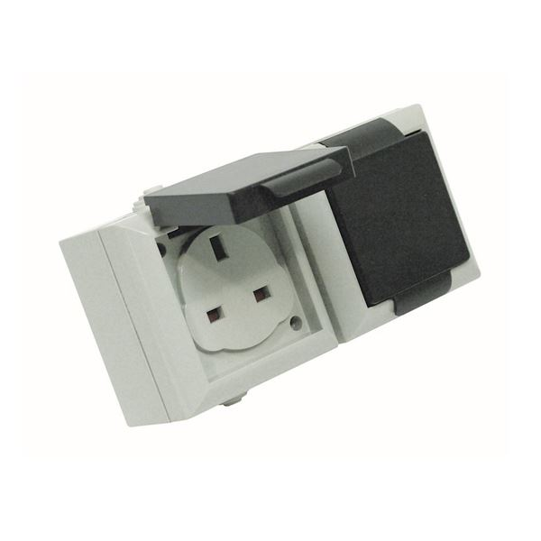 Weatherproof Outdoor Socket - 2 Gang - 13 Amp