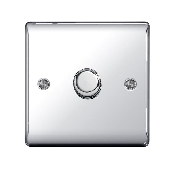 Nexus Polished Chrome Dimmer Switch - 1 Gang 2 Way