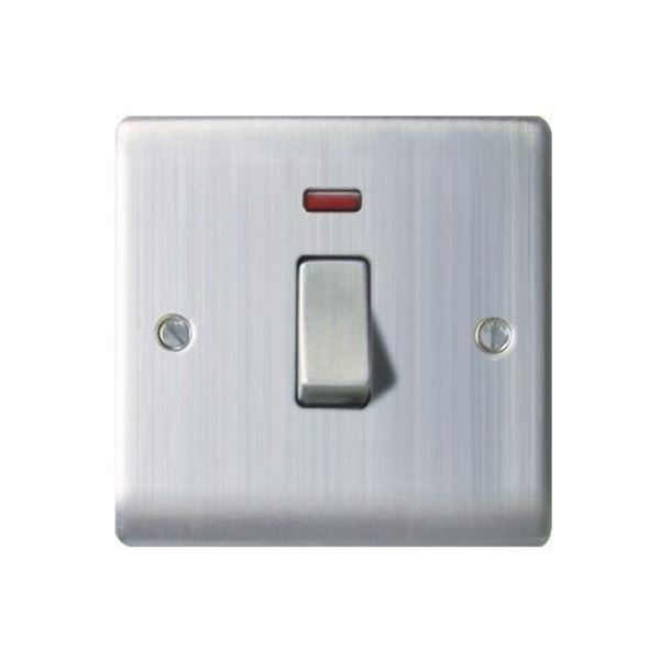 Nexus Stainless Steel Switch with Neon