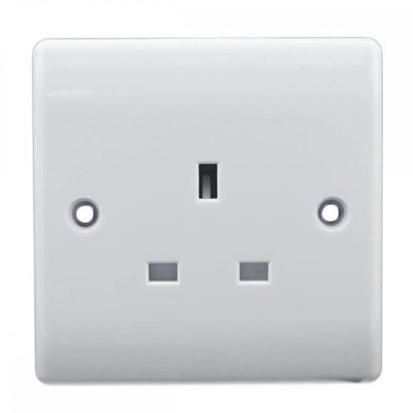 Jegs Flush Socket - Unswitched - 1 Gang