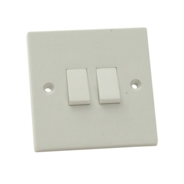 Jegs Wall Switch - 2 Gang - 2 Way