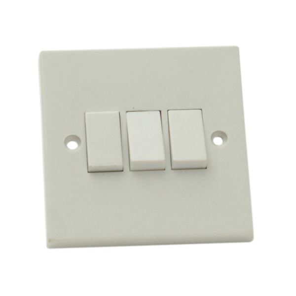 Jegs Wall Switch - 3 Gang - 2 Way