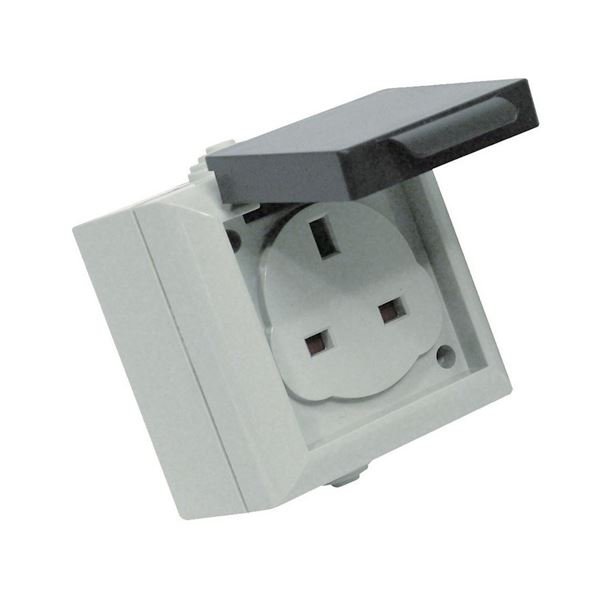 Weatherproof Unswitched Socket - 1 Gang