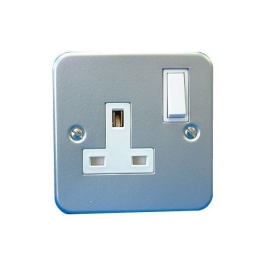 Metal Clad Switched Socket - 1 Gang