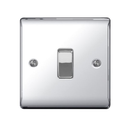 Nexus Polished Chrome Switch - 1 Gang 2 Way