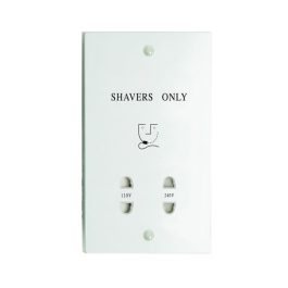 Jegs Duel Voltage Shaver Socket - White