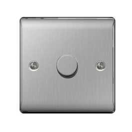 Nexus Stainless Steel Dimmer Switch - 1 Gang 2 Way