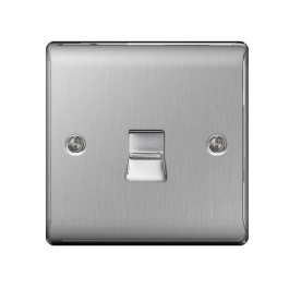 Nexus Stainless Steel Telephone Socket - Master