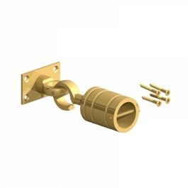 Decking Rope - Hook & Eye On Plate 24mm - Brass