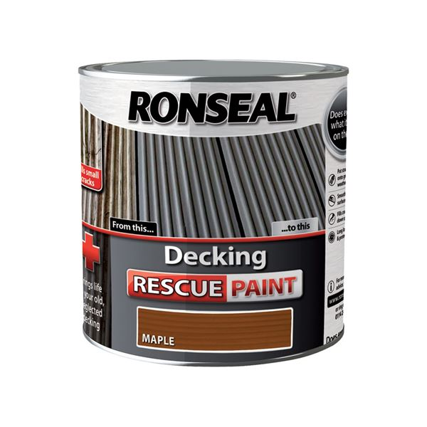 Ronseal Decking Rescue Paint 2.5Lt - English Oak