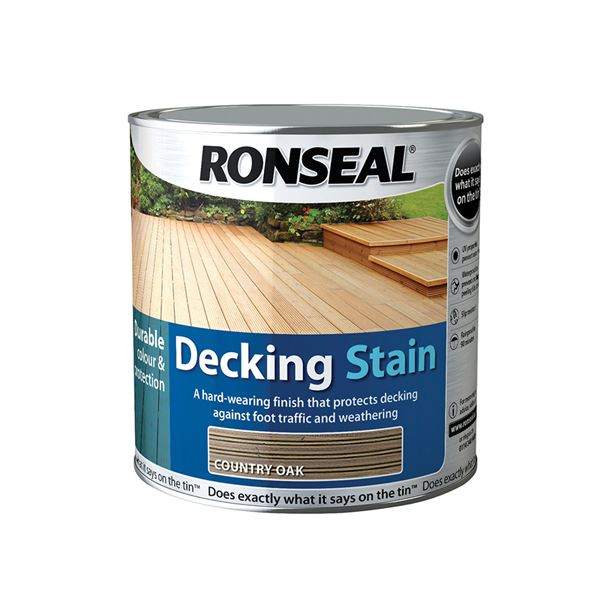 Ronseal Decking Stain 2Lt + 25% - Golden Cedar
