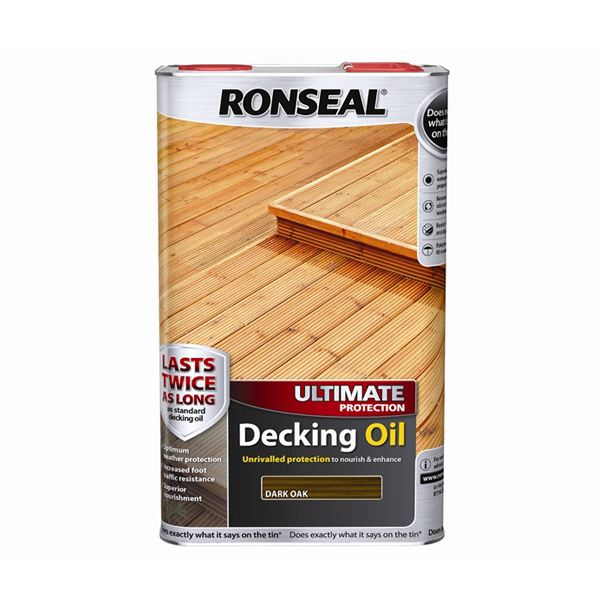 Ronseal Ultimate Decking Oil 5Lt - Teak