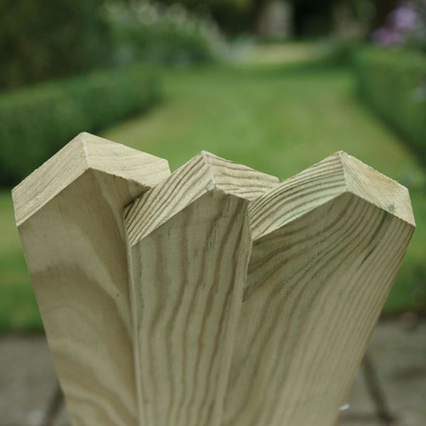 Picket Fence Board - 0.9Mt x 70mm x 19mm - Pointed