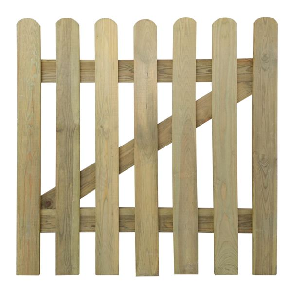 Round Top Picket Gate - 900mm x 900mm