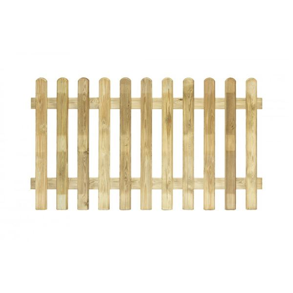 Round Top Picket Fence Panel - 1.8Mt x 900mm