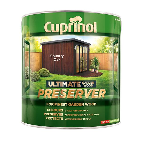 Cuprinol Ultimate Garden Wood Preserver 4Lt - Golden Oak