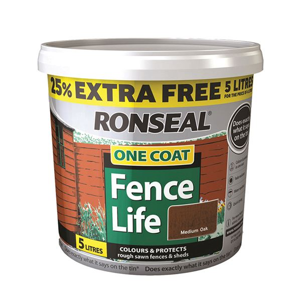 Ronseal Fence-Life 4Lt + 25% - Red Cedar