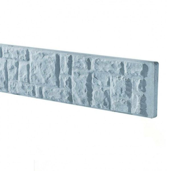 Concrete Base Panel - 6Ft x 1Ft - Rockfaced