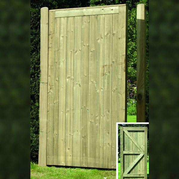 Elite Tongue & Groove Gate - Flat Top - 1.75Mt x 900mm