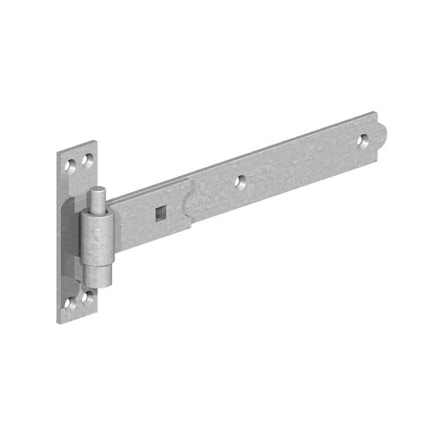 Gate Mate - Hook & Bands On Plates 600mm - Straight - Galvanised