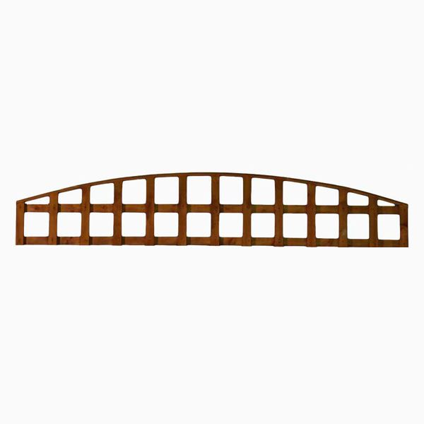 Arched Trellis Panel - 6Ft Wide x 1Ft High