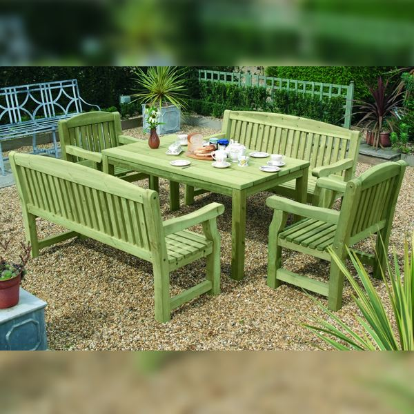 Garden Furniture - Wooden Garden Table 1.5Mt