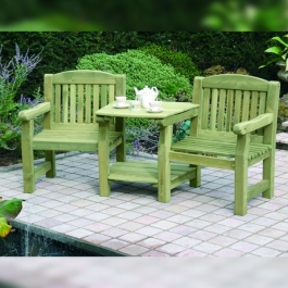Garden Furniture - Top & Bottom Shelf to Fit Carver Single Seat