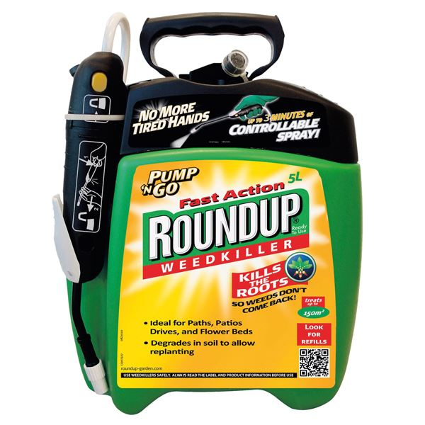 Round-Up Weedkiller 5Lt - Pump 'N' Go