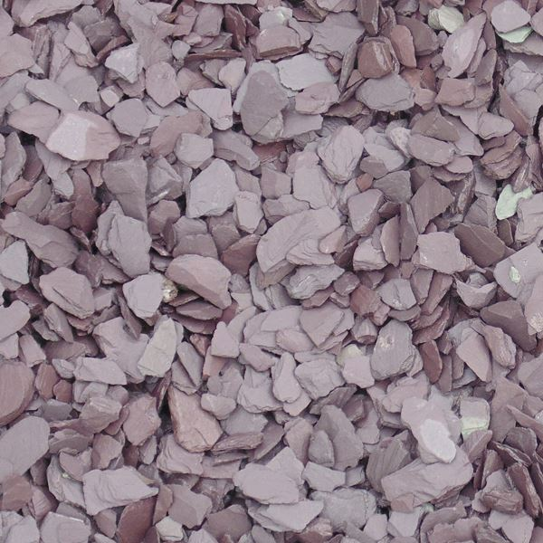 Bulk Bag Of Plum Slate Chippings