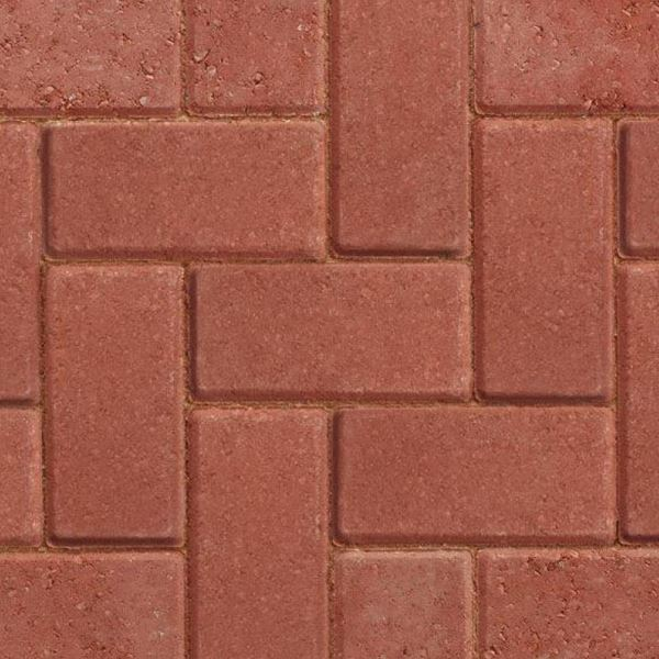 Block Paving 50mm - Red - (Each)