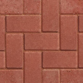 Block Paving 50mm - Red
