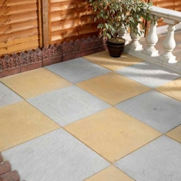 Value Riven Paving Flag - Natural Grey - 600mm x 600mm