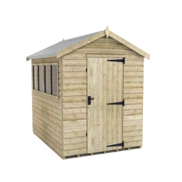 Tiger Elite Apex Shed - Pressure Treated - 8Ft Length x 6Ft Width