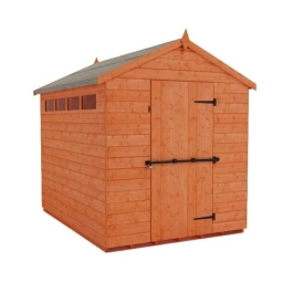 Tiger Security Apex Shed - 8Ft Length x 6Ft Width