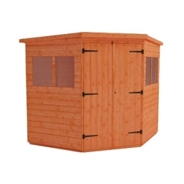 Tiger Deluxe Corner Shed - 8Ft Length x 8Ft Width