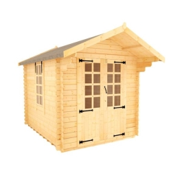 White Label Babylon - 19mm Log Cabin - 8Ft Length x 8Ft Width