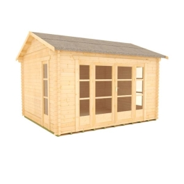 The Balinese - 44mm Log Cabin - 12Ft Length x 10Ft Width