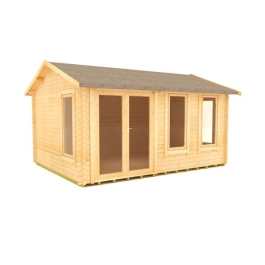 The Gamma - 44mm Log Cabin - 16Ft Length x 12Ft Width
