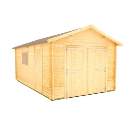 The Malayan Garage - 44mm Log Cabin - 18Ft Length x 14Ft Width