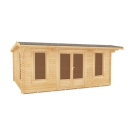 The Procas - 44mm Log Cabin - 16Ft Length x 10Ft Width