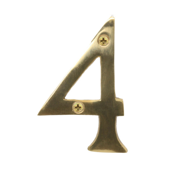 Door Number 4 - Georgian Brass - (045454N)