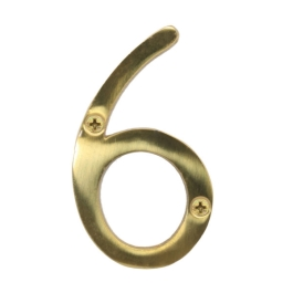 Door Number 6 - Georgian Brass - (045478N)